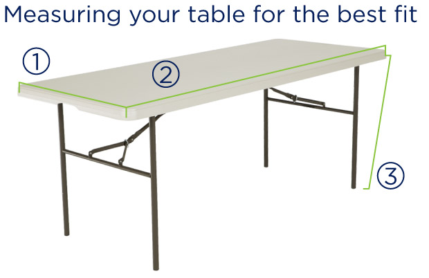Table cloth dimensions